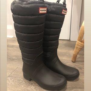 Hunter Shoes - Hunter black puffer insulated rain boot